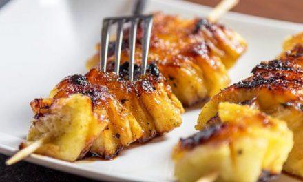 Nice: gegrilde ananas